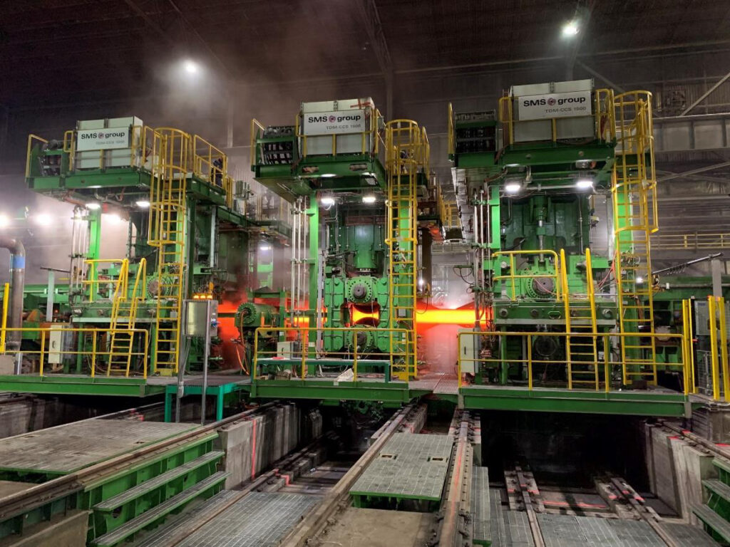 New three-stand CCS®-Reversing Tandem Mill arrangement.