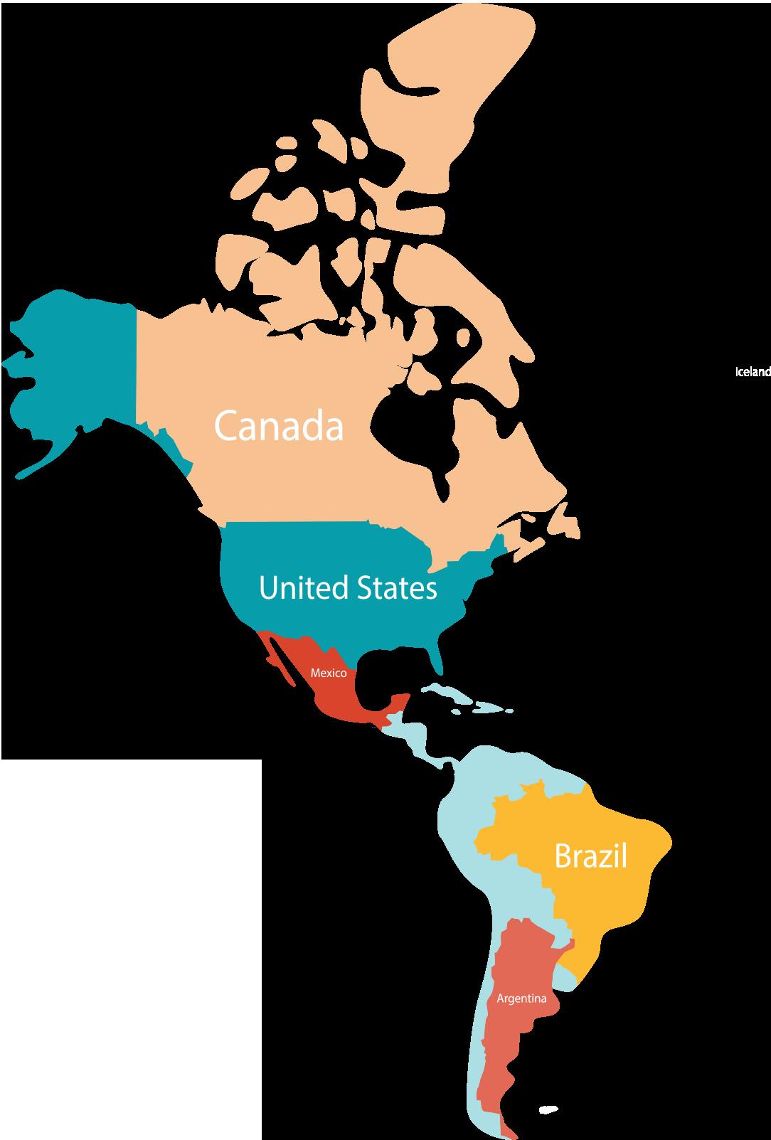 America Circulation Map